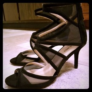 Nine West sexy mesh cage gladiator stiletto heels